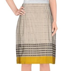 Max Mara 'Canada' Silk Polka Dot Knee Length Skirt